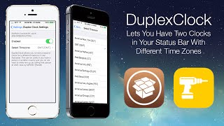 DuplexClock: Lets You Have Two Clocks in Your Status Bar With Different Time Zones