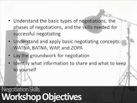 Negotiation Skills Training Courses - YouTube