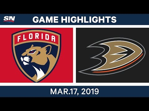 NHL Game Highlights | Panthers vs. Ducks - March 17, 2019