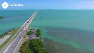 ???? Florida Key Drone Footage | DJI Phantom 3 Pro 4K Royalty free stock video footage