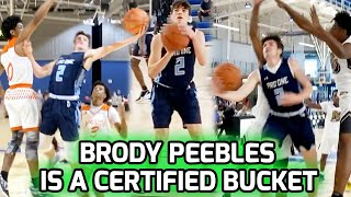 D1 Commit Brody Peebles Has Been COOKING This Summer! 2,000 Point Scorer Still Has Whole SENIOR SZN🔥