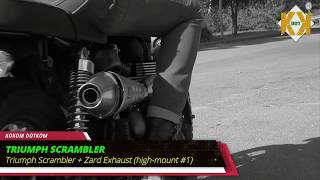 Triumph Scrambler Best Exhaust Sound Compilation  Scorpion, Arrow, Zard, Vance & Hines, D&D,
