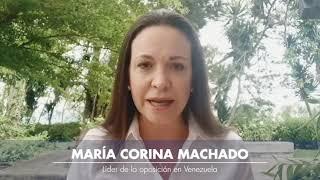 María Corina Machado, líder de la oposición venezolana, expresa su apoyo al presidente Álvaro Uribe