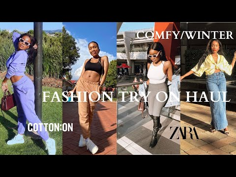 LOUNGE WEAR/ WINTER COMFY FASHION TRY ON HAUL | WHAT'S NEW AT ZARA AND COTTON ON