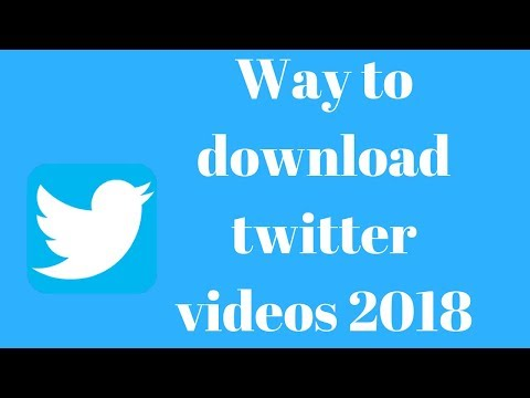 Way to download twitter videos