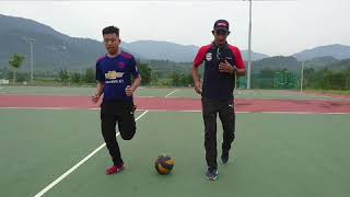Footwork Movement & Drills In Netball. ~ QEI1212 BOLA JARING 1~