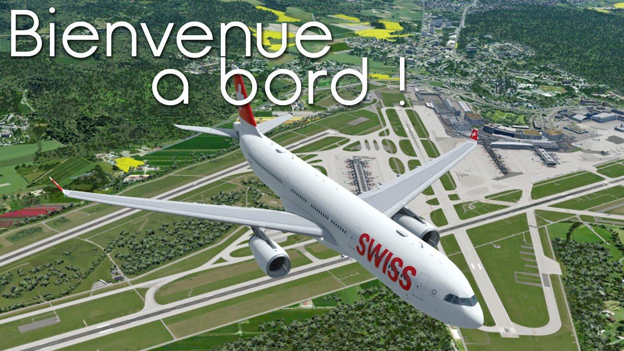 Aerosoft A330 ! Zürich (LSZH) – Chicago (KORD) avec SWISS | LX8 – Prepar3D