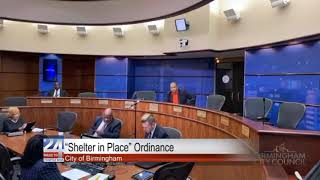 """City of Birmingham Approves """"Shelter in Place"""" Ordinance"""