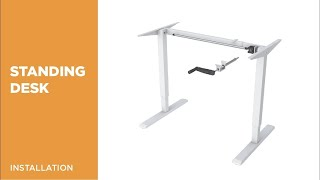 How to Install Manual Height Adjustable Sit to Stand Desk - N02-22D