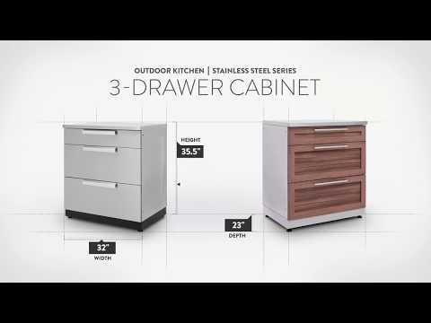 NewAge Stainless Steel 3-Drawer Cabinet