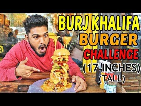 BIGGEST BURGER IN MUMBAI   Burj Khalifa Burger   Food Challenge India (Episode-43)