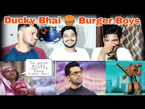 INDIAN REACTION ON | DUCKY BHAI | BURGER BOYS