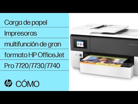 Carga de papel | Impresoras multifunción de gran formato HP OfficeJet Pro 7720/7730/7740 | HP