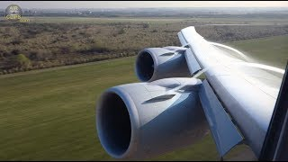 BEST EVER B747 8 Wing View! BEST Vortex & Aerial Views: Lufthansa Buenos Aires! [AirClips]