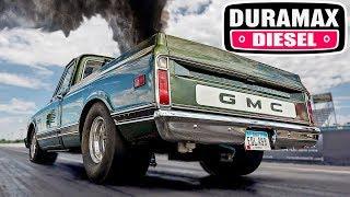Twin Turbo Duramax - 10 Second Old School Diesel C10!
