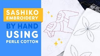 💙SASHIKO💙 Embroidery By Hand Using Perle Cotton