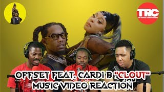 """Offset Feat. Cardi B """"Clout"""" Music Video Reaction"""