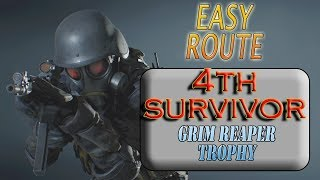 RESIDENT EVIL 2 REmake (PS4) The 4th Survivor / Grim Reaper THE EASY WAY
