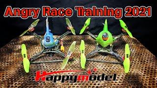 "Angry Race Training 2021 3"" Pocket Race Rocket Happymodel 1204 6500KV Crazybee F4 V3 TP3 CADDX ant"