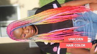 UNICORN HAIR | DYING MY HAIR PINK AND BRAIDING IT RAINBOW
