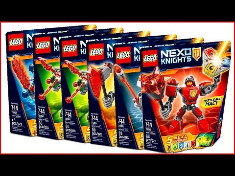 COMPILATION ALL LEGO Nexo Knights Battle Suits 2017 - Speed Build