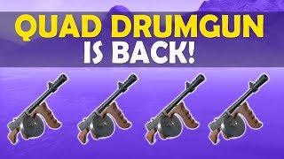 QUAD DRUM GUN IS BACK!   TILTED TOWERS DESTROYED!