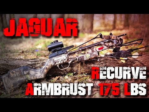 Jaguar Recurve Armbrust 175 LBS Crossbow Camo Hunting - Review Test Outdoortest (Deutsch/German)