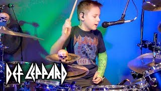 ANIMAL - DEF LEPPARD (9 year old Drummer) Drum Cover by Avery Drummer Molek