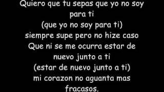 Fanny Lu Tu No Eres Para Mi lyrics