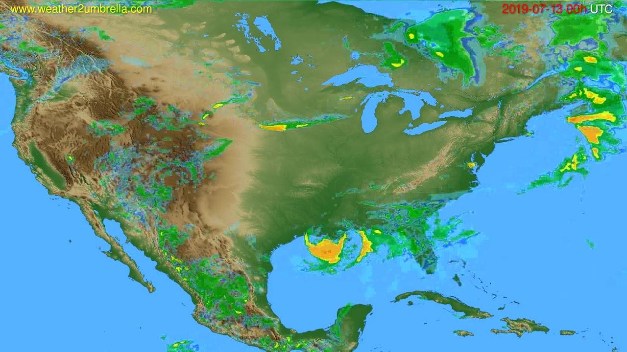 Radar forecast USA & Canada // modelrun: 12h UTC 2019-07-12