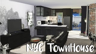 The Sims 4: Speed Build - NYC TOWNHOUSE / CC BUILD