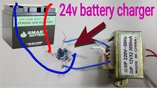 How to make a 24v battery charger