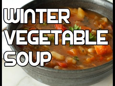Video Winter Vegetable Soup Recipe - Root Veg Healthy