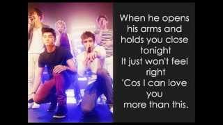 One Direction - More Than This - Acoustic (Pictures & Lyrics)