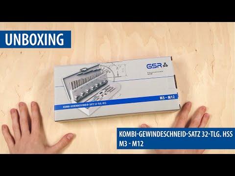 Kombi Gewindeschneidsatz M3 - M12 inklusive Gewindelehre [GSR Unboxing #1]