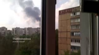 Marinka and Donetsk under fire, Ukraine today