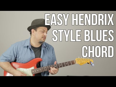 Hendrix Style Blues Chords For Playing With Other Guitar Players - D7 Shape