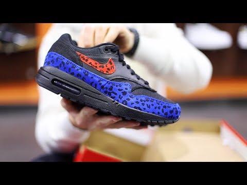 Unboxing Sneakers Nike Air Max 1 Premium Animalier BV1977-001 | Freesneak Shop