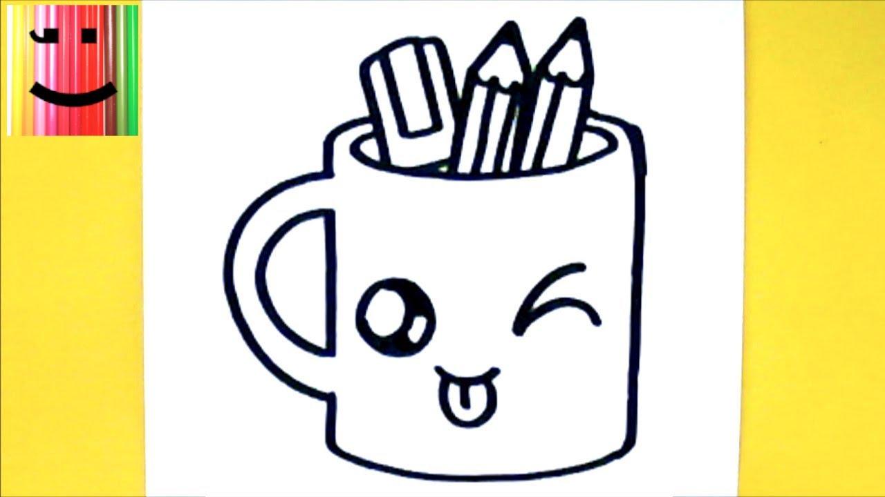 Video Comment Dessiner Tasse Crayons Kawaii Dessin Kawaii Et Facile