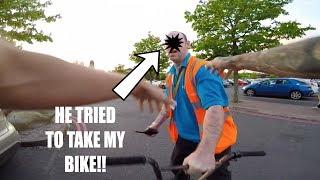 *CAPTURED* HE TRIED TO TAKE MY BIKE!