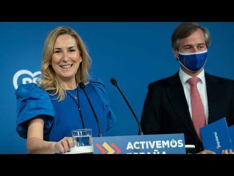Rueda de prensa de Ana Beltrán y Antonio González ...