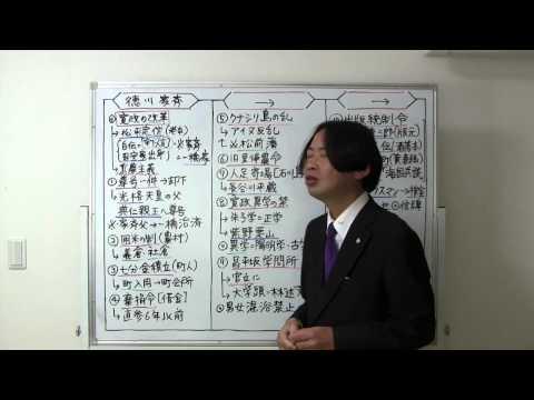 竹内の日本史 戦略図解ボード #042 田沼政治と寛政の改革