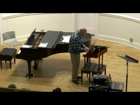 """Aaron Rosenberg performs """"A Contrivance,"""" his composition for toy piano."""