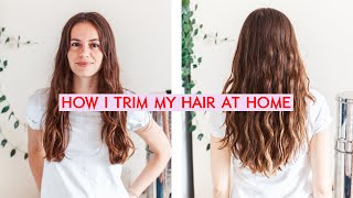 how I trim my hair at home / with face framing pieces / save $$$