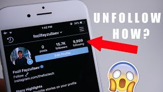How To Unfollow Everyone on Instagram at ONCE! (2020)