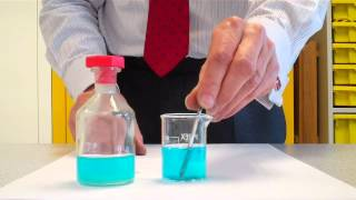 The displacement of the copper from salt solution with zinc and iron