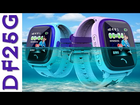 Smart Baby Watch DF25G/W9 (Wonlex GW400S): детские водонепроницаемые смарт часы с GPS-трекером