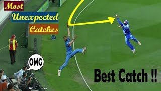 Top 10 Most Unexpected Catches in Cricket History | Acrobatic Catches in Cricket