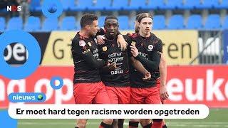 Supporters schreeuwen racistische dingen naar voetballer Moreira