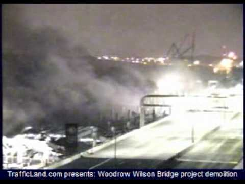 TrafficLand.com - Woodrow Wilson Bridge Project Demolition
